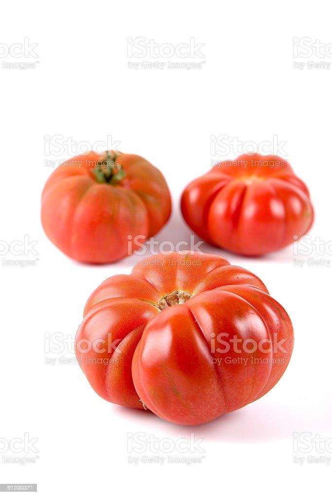 Ripe Tiger tomatoes royalty-free stock photo