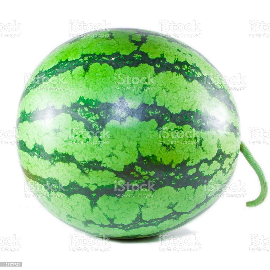 ripe watermelon on white background royalty-free stock photo