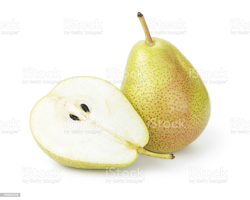 ripe williams pears stock photo