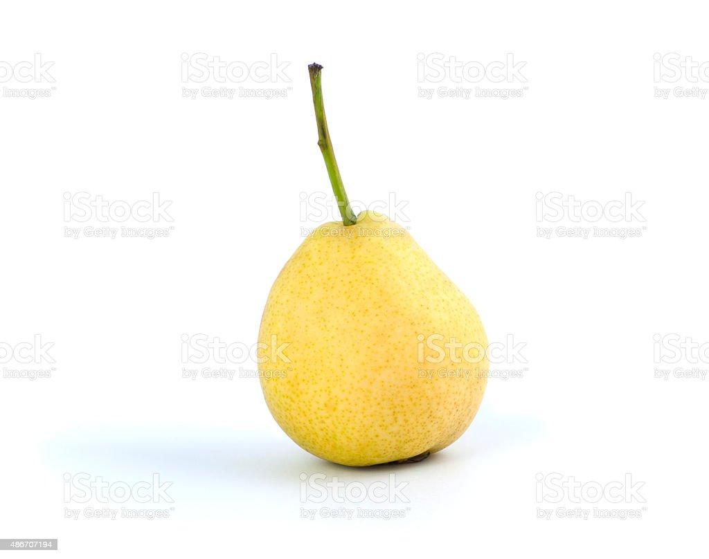 Ripe yellow pear. stock photo