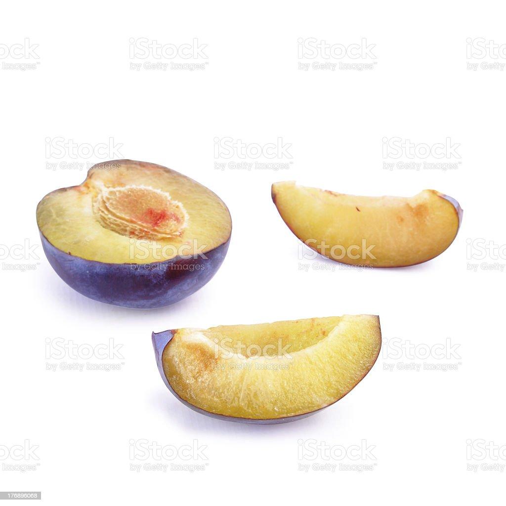 Ripe yummy plum royalty-free stock photo
