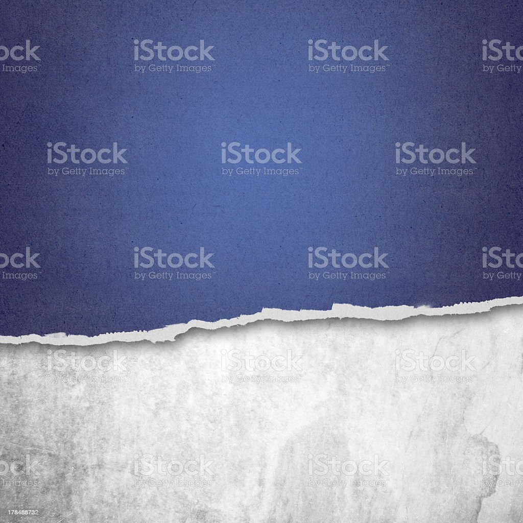 Riped Paper and white background with space for text stock photo