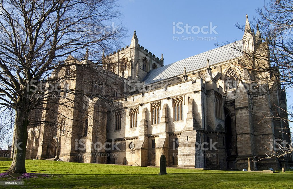 Ripon Cathedral, North Yorkshire, England stock photo