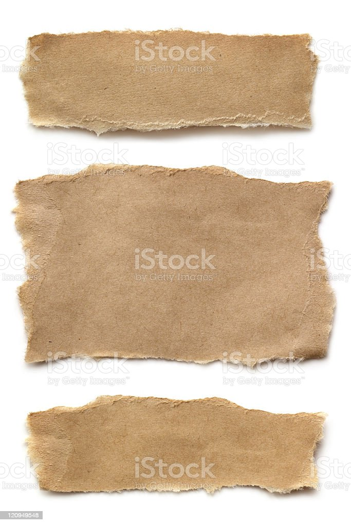 Ripped Brown Paper stock photo