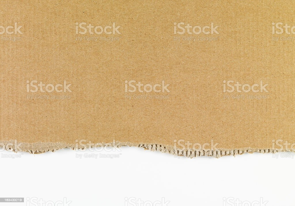 Ripped Cardboard XXXL stock photo