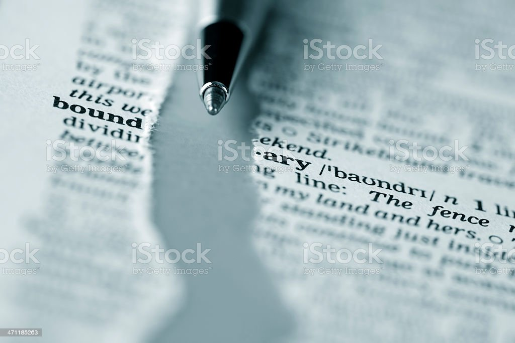 Ripped dictionary page series: boundary royalty-free stock photo