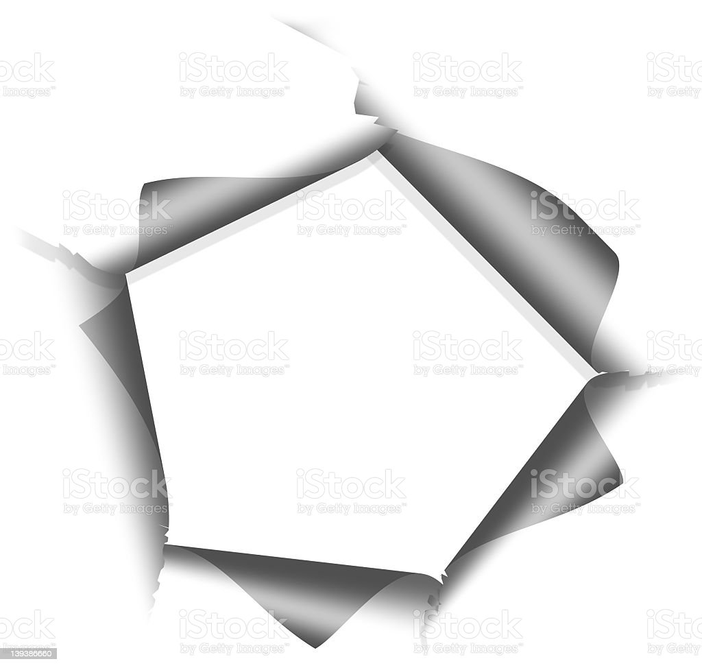 ripped paper frame stock photo