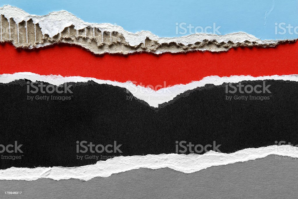 Ripped papers royalty-free stock photo