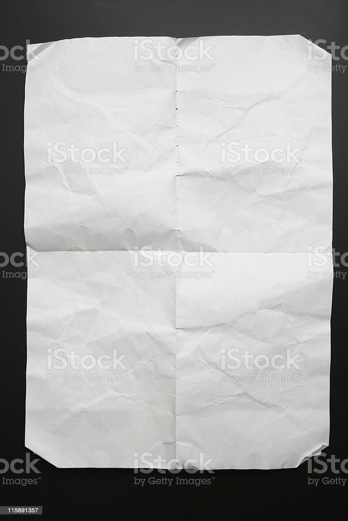 Ripped picked paper. stock photo