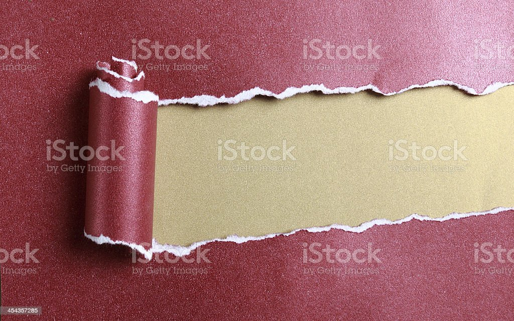 Ripped red paper royalty-free stock photo