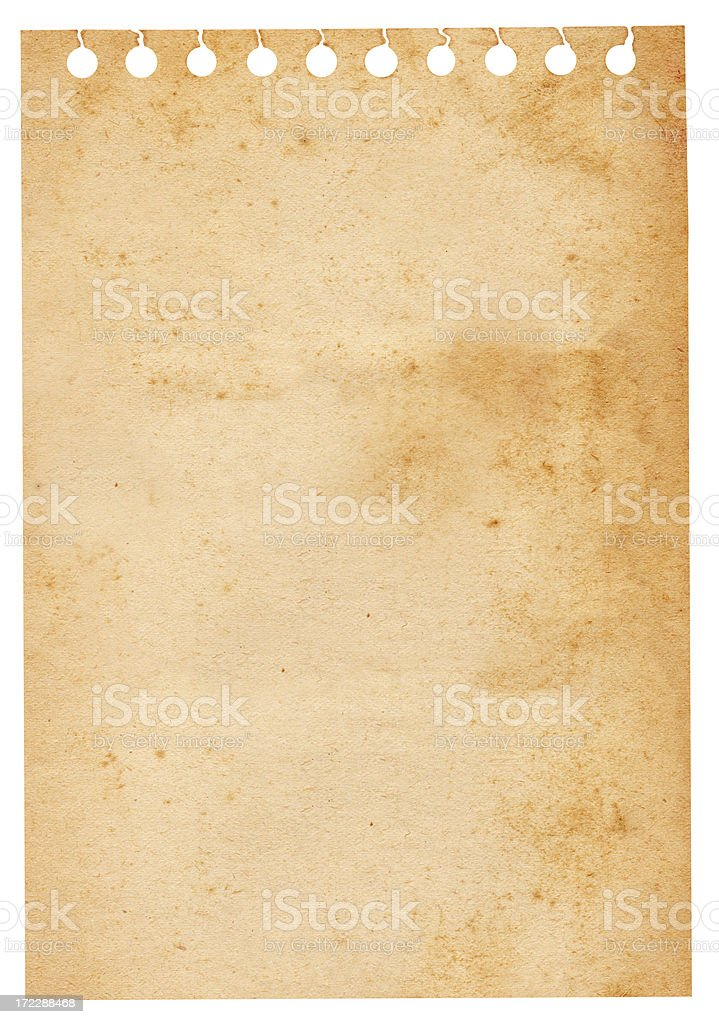 Ripped Spiral Note XXXL royalty-free stock photo