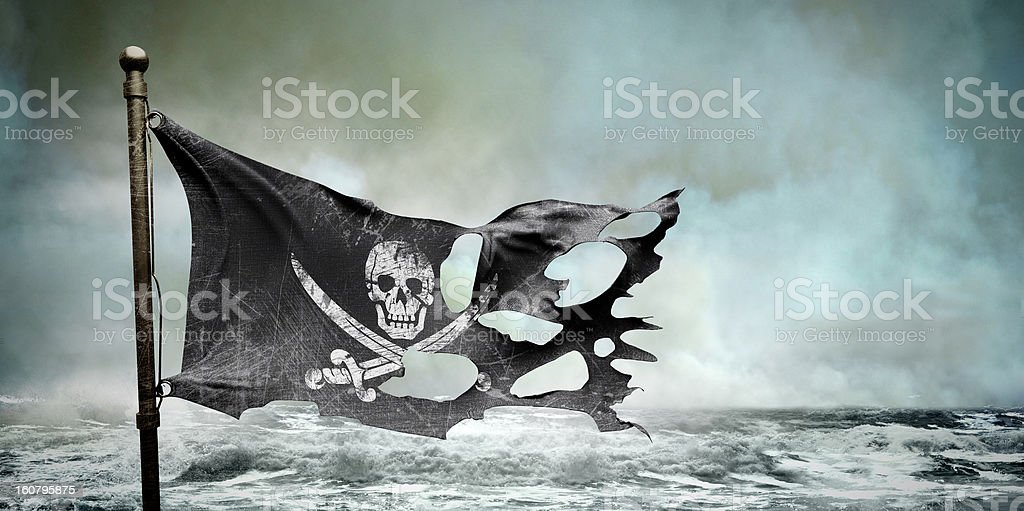 ripped torn flag stock photo
