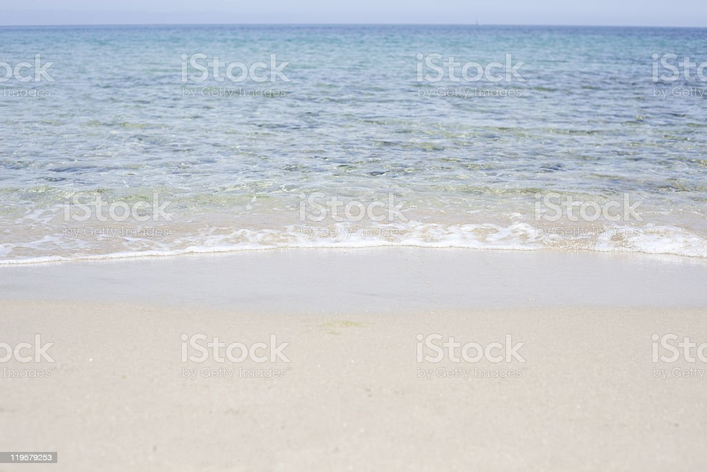 Ripple on beach. royalty-free stock photo