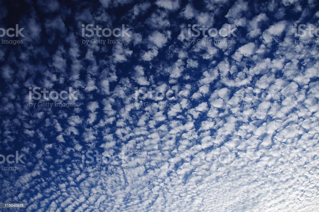 Rippled Clouds and Blue Sky Background royalty-free stock photo