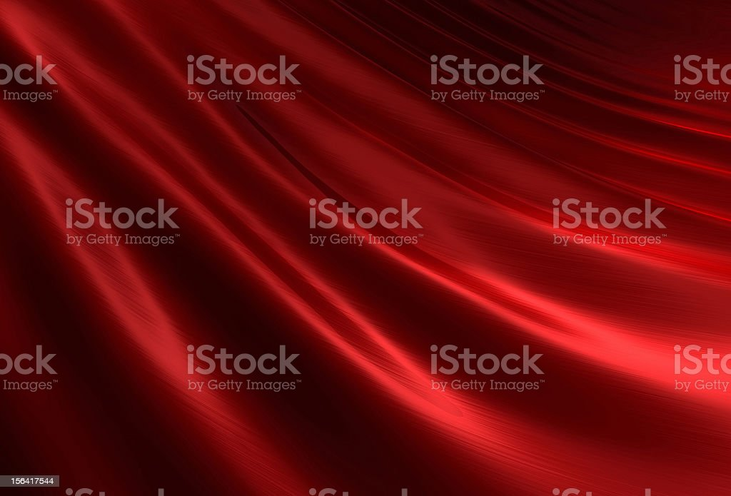 Rippled red silk II stock photo