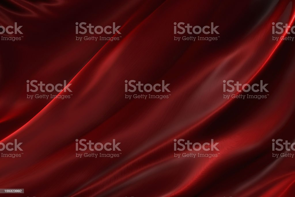 Rippled red silk stock photo