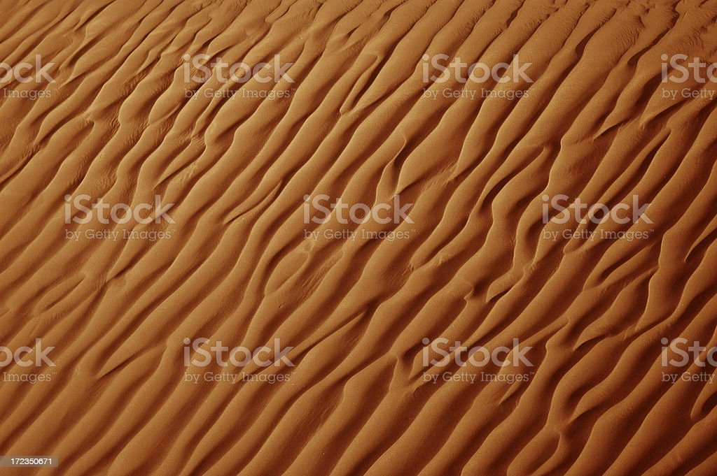 Rippled Sand Abstract stock photo