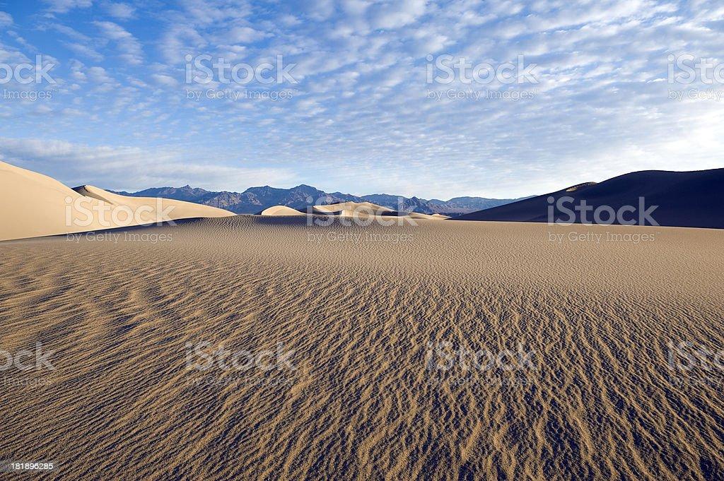 Rippled sand dunes royalty-free stock photo