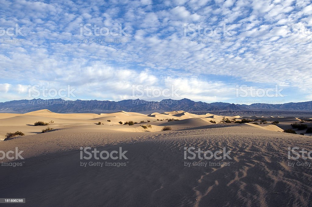Rippled sand dunes royalty-free stock photo