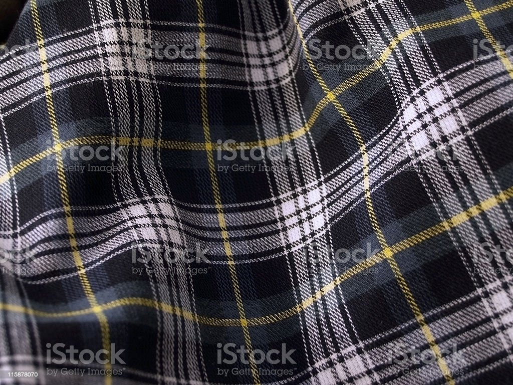 Rippled Tartan Cloth - Green royalty-free stock photo