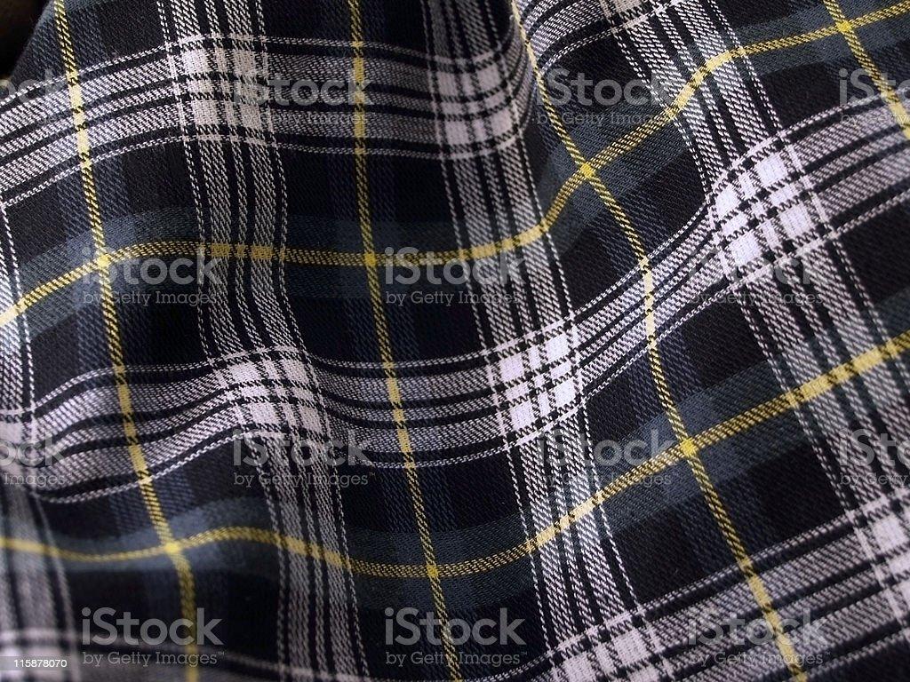 Rippled Tartan Cloth - Green stock photo