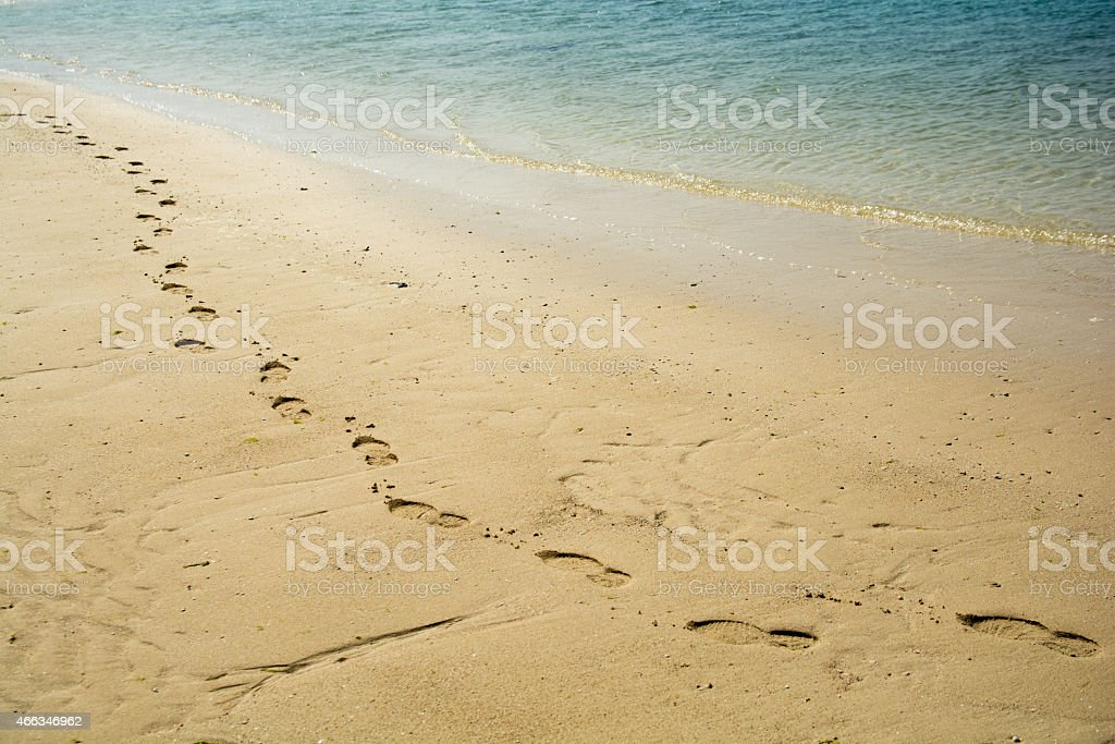 Ripples and beach royalty-free stock photo