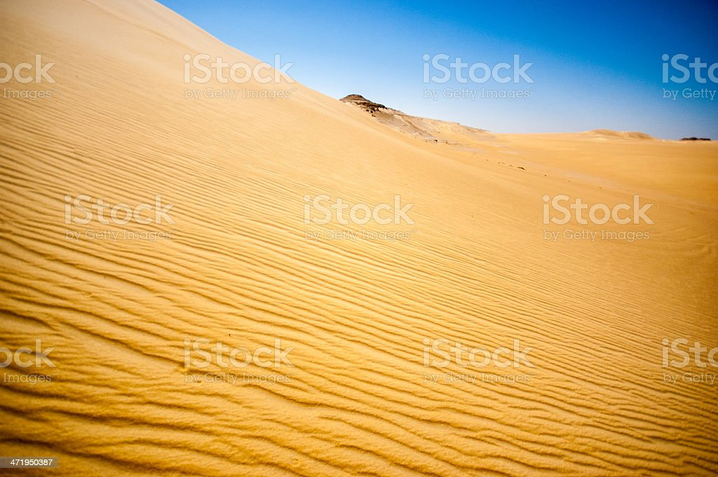 Ripples in a sand dune stock photo