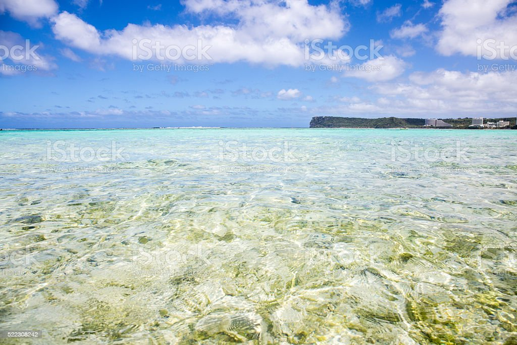 Ripples of the crystal clear waters stock photo