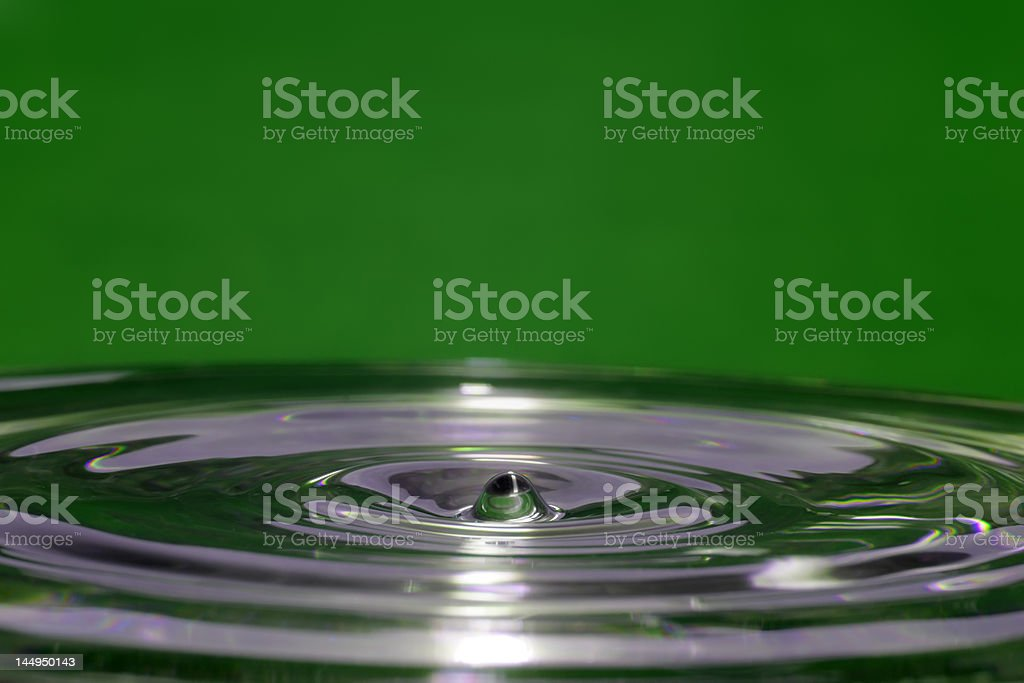 Ripples on Green royalty-free stock photo