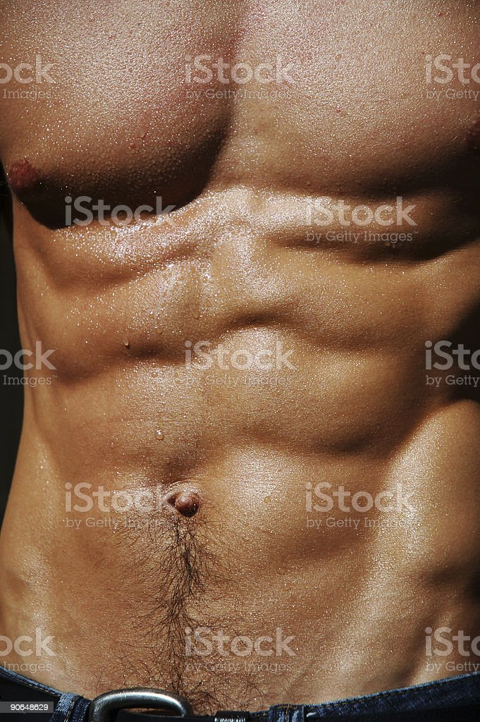 rippling male torso royalty-free stock photo