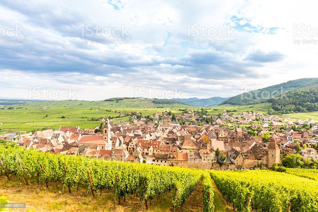 Riquewihr Alsace France stock photo