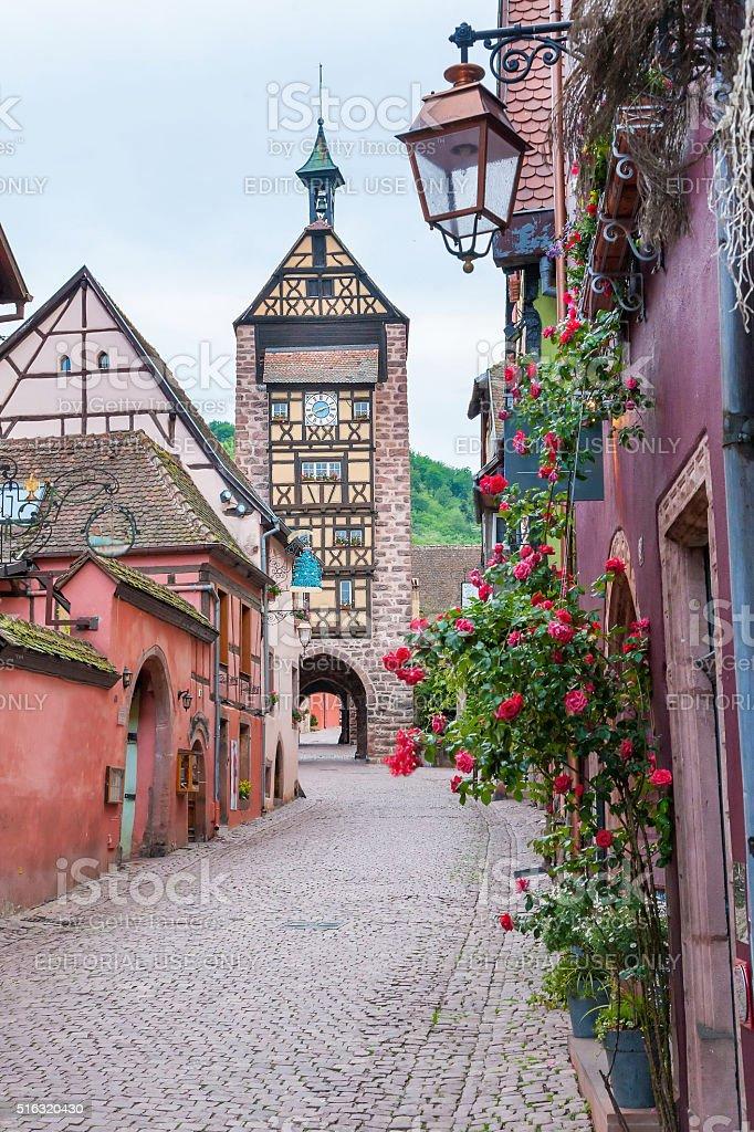 Riquewihr, Alsace, France stock photo