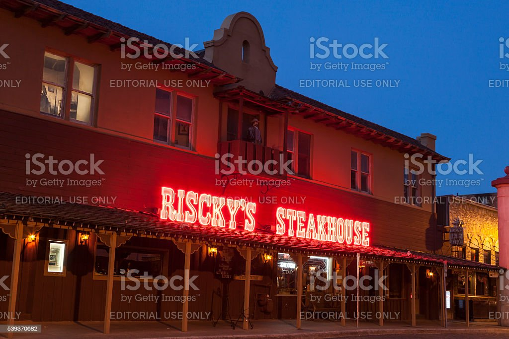 Riscky's Steakhouse in Fort Worth stock photo