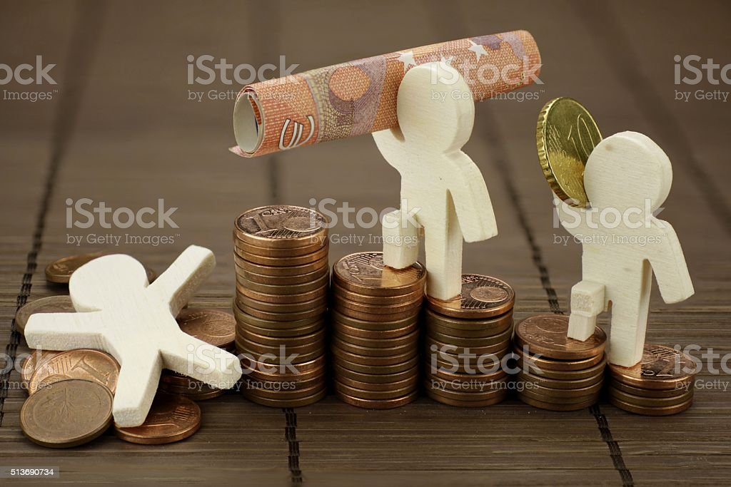 Rise and fall stock photo