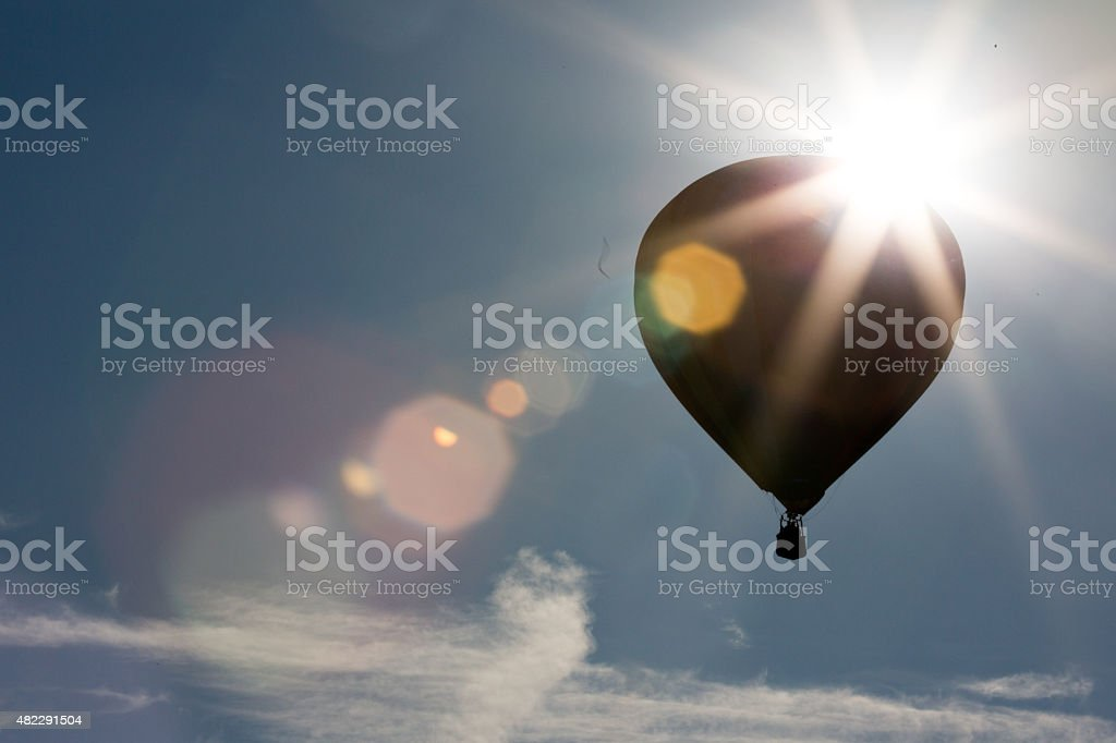 Rise and Shine Hot Air Balloons stock photo
