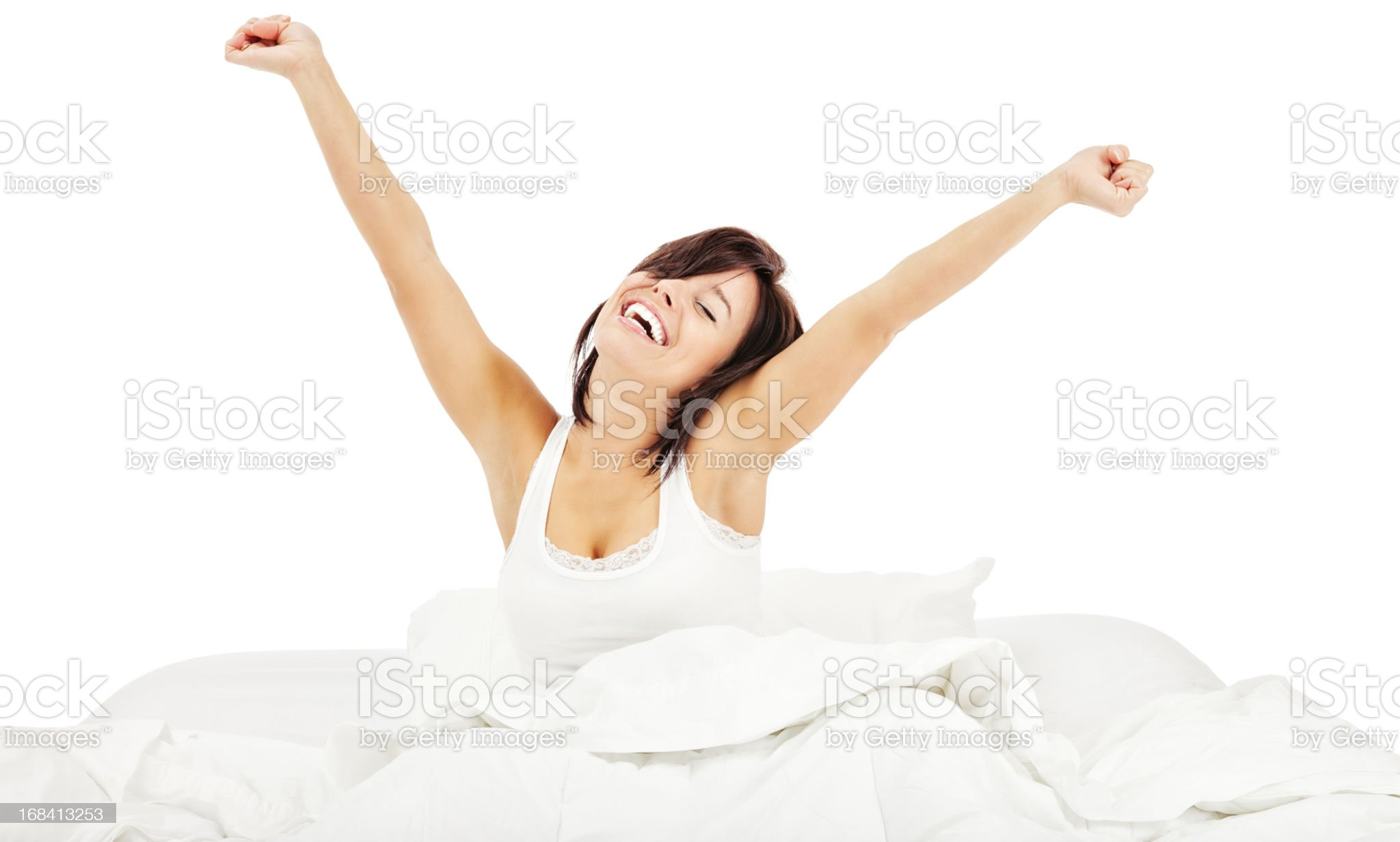 Rise and Shine: Morning Stretch royalty-free stock photo