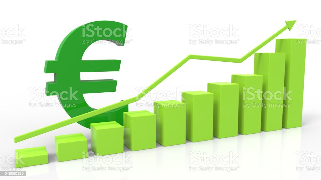 Rise of euro stock photo