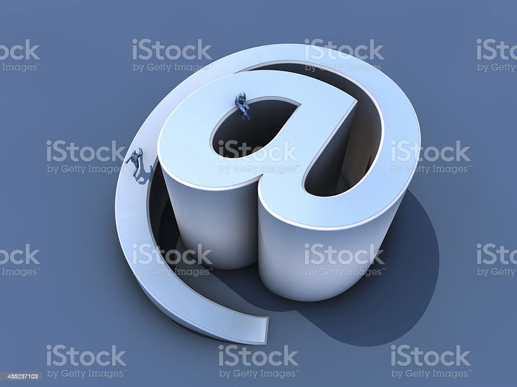 Rise of the internet and frustration royalty-free stock photo