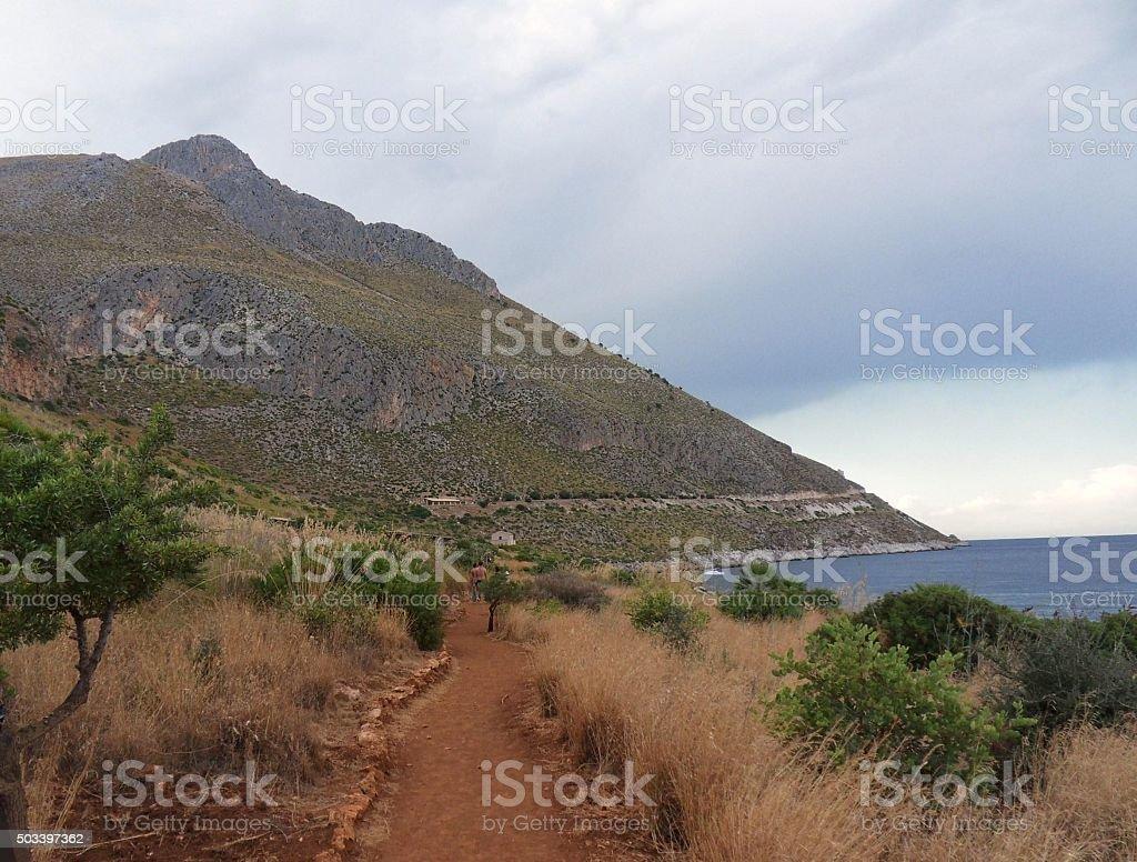 Riserva naturale dello Zingaro - sentiero costiero stock photo