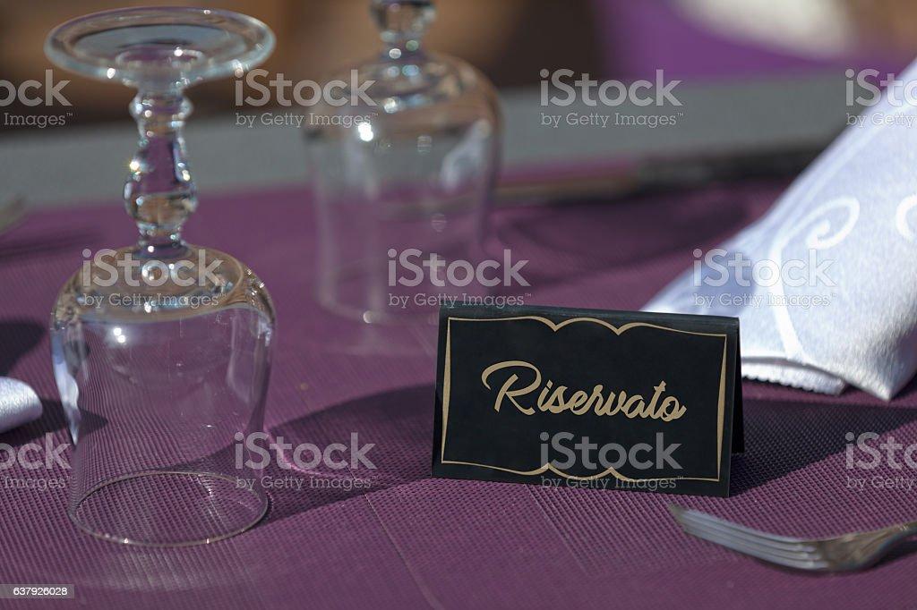Riservato stock photo
