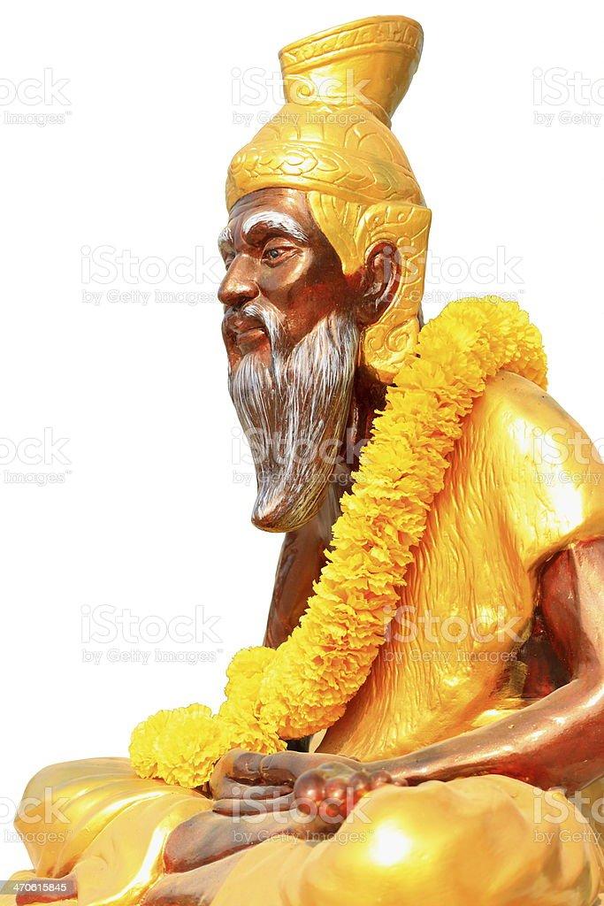 Rishi statue stock photo