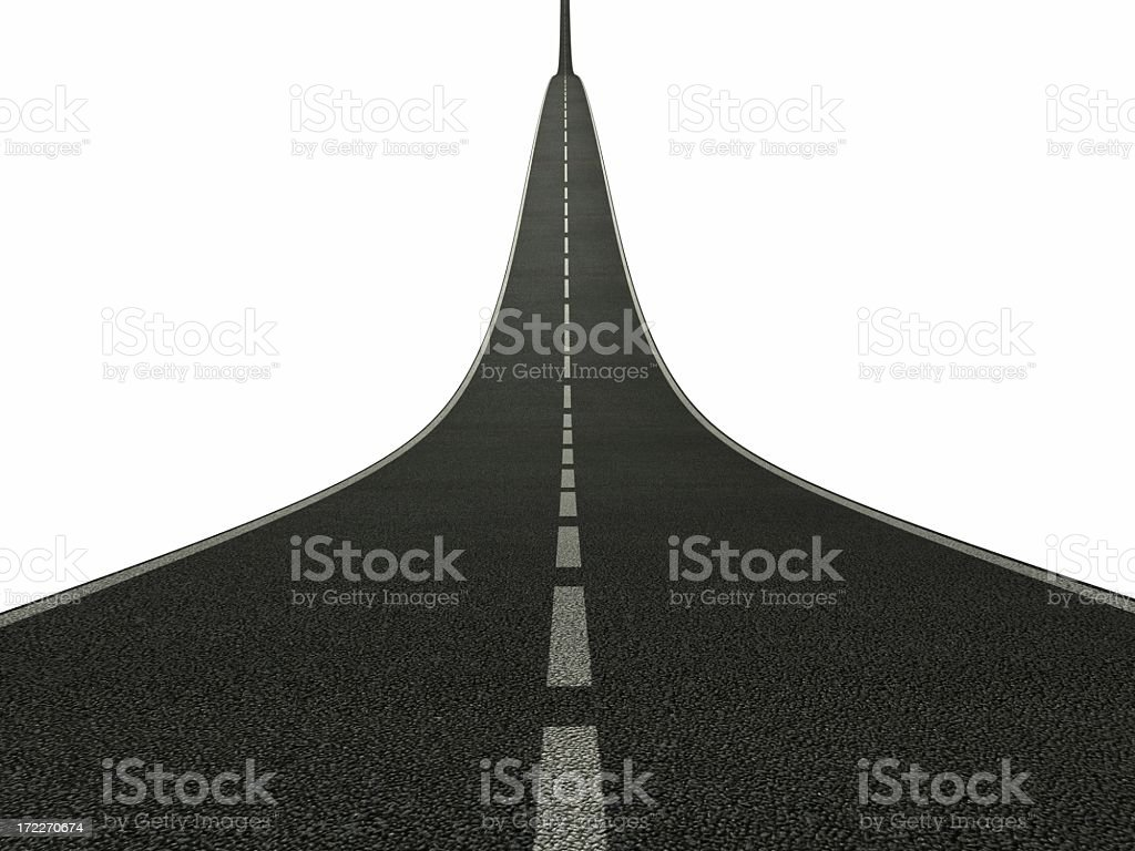Rising asphalt road royalty-free stock photo
