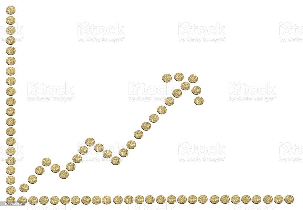 Rising Australian dollar royalty-free stock photo