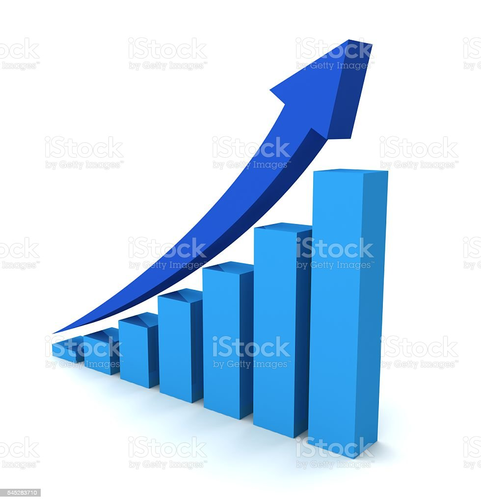 Rising Business Graph stock photo