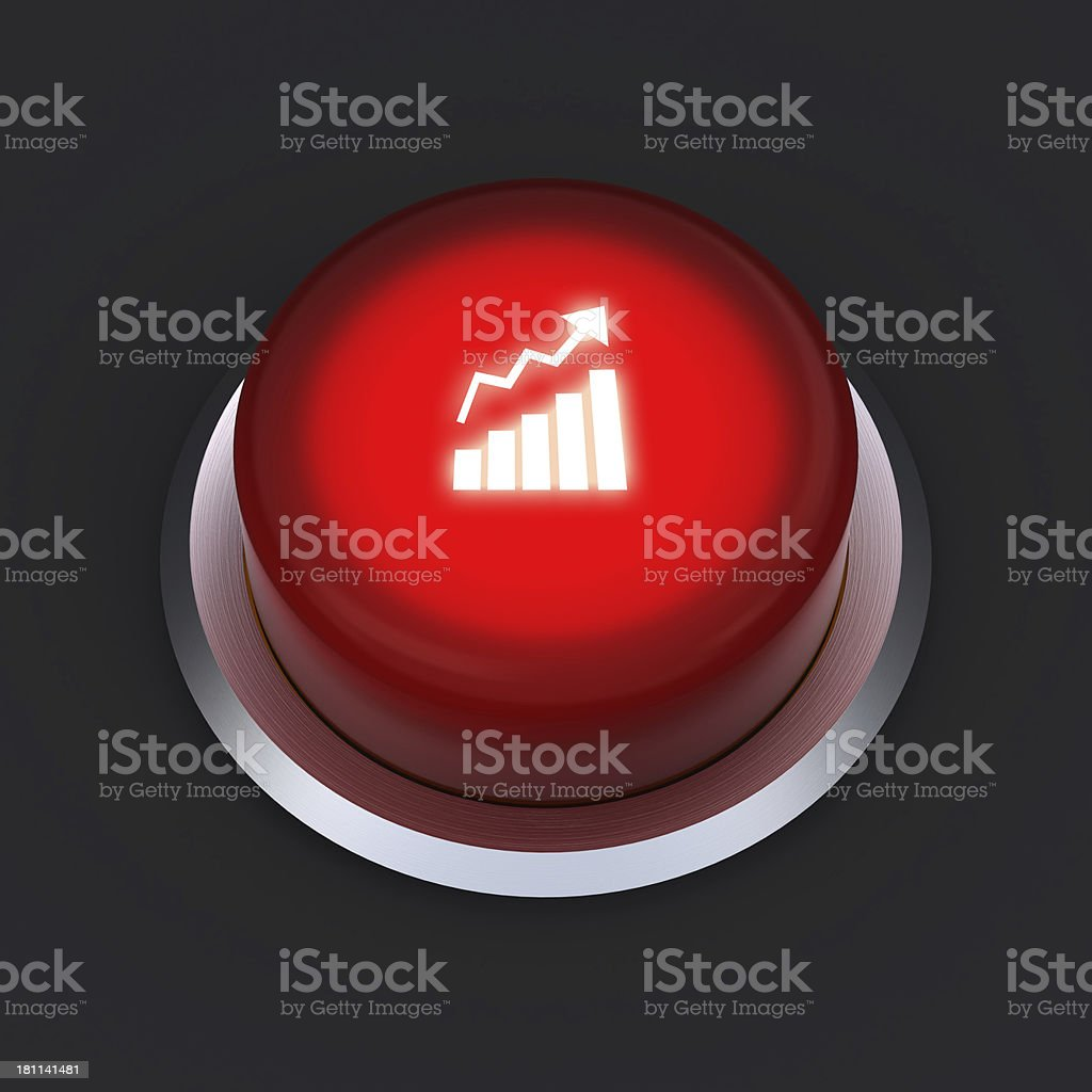 Rising button royalty-free stock photo