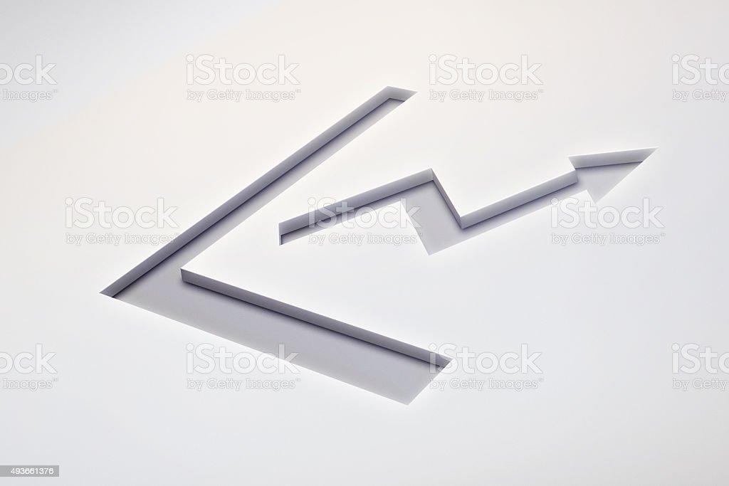 Rising Chart Symbol stock photo