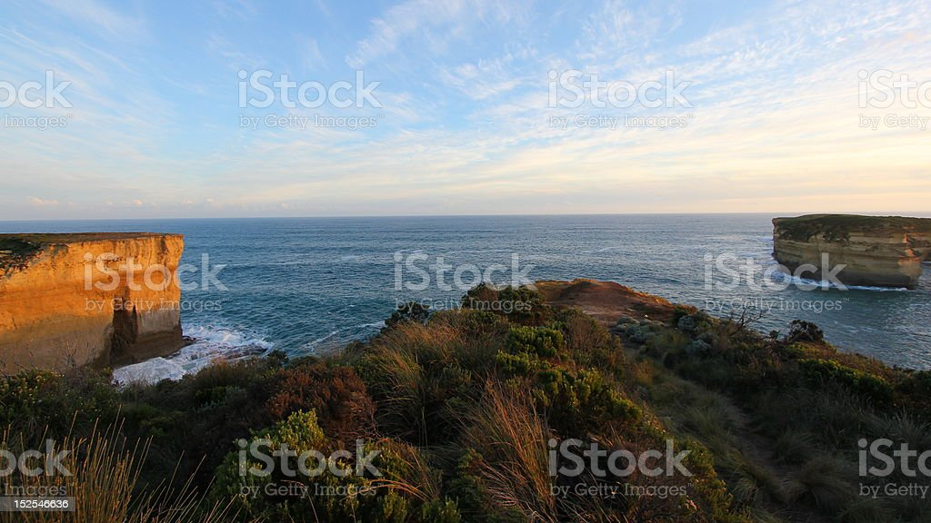 Rising cliffs at Great Ocean Road royalty-free stock photo