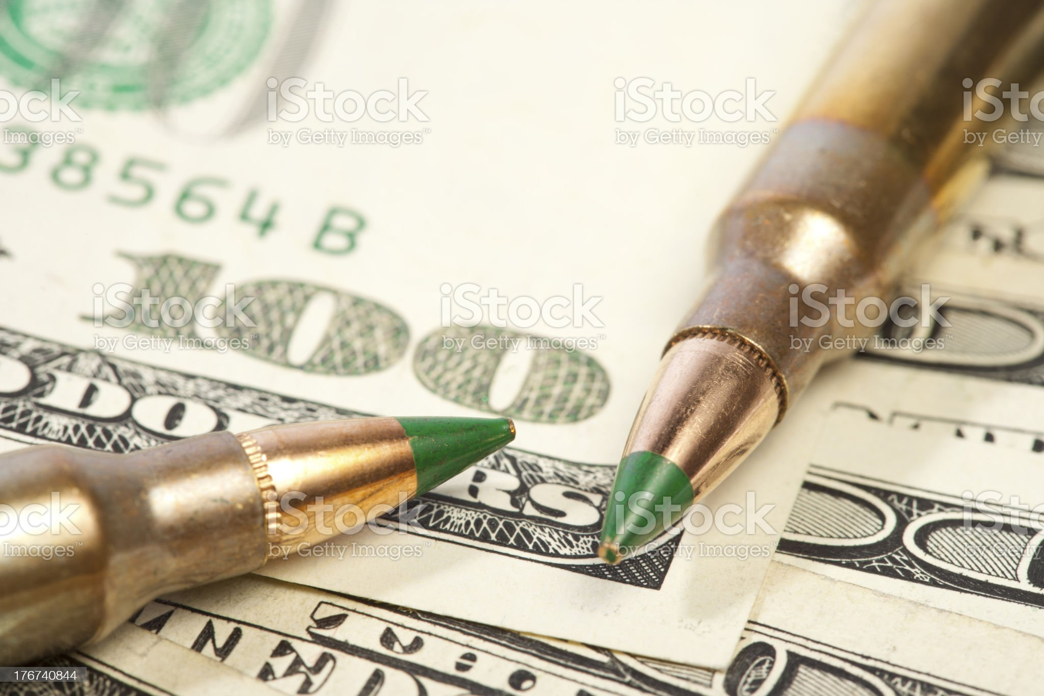 Rising Cost of Ammo royalty-free stock photo