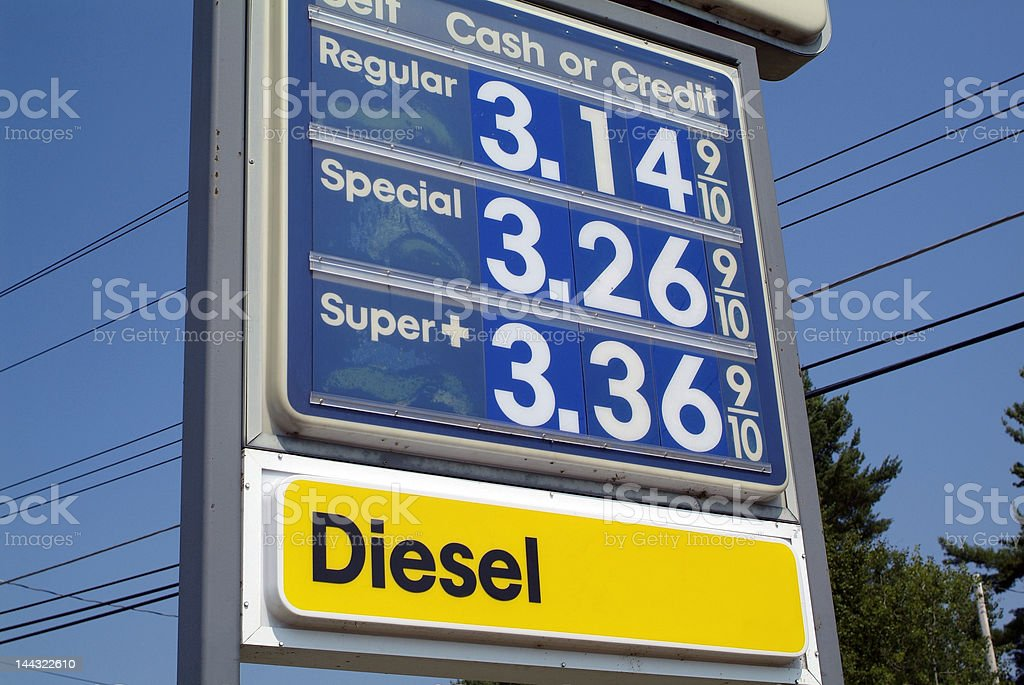 rising cost of fuel royalty-free stock photo