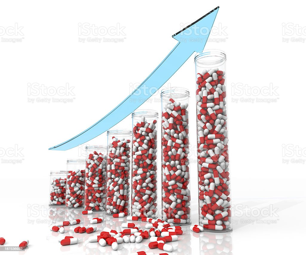 Rising Cost of Medicine and Health Care royalty-free stock photo